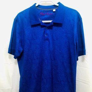 NWOT Robert Graham Men's Polo Shirt, Sz L,  PEM20